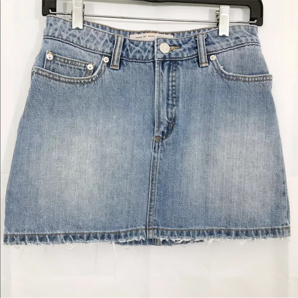 Marc By Marc Jacobs Skirt Icon Mini Frayed Hem